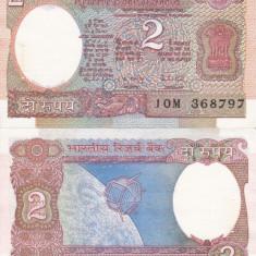 INDIA 2 rupees AUNC!!! - bancnota asia