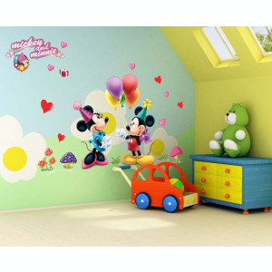 Autocolant Mickey and Minnie Mouse Sticker Perete 2018,DECOR CAMERA COPIILOR