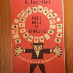NU-I NICI O MINUNE de A. IOZEFINI 1976 - Carte Arta populara