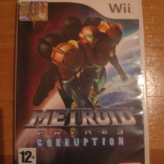 JOC WII METROID PRIME 3 CORRUPTION ORIGINAL PAL / STOC REAL in BUCURESTI / by DARK WADDER - Jocuri WII Altele, Shooting, 12+, Single player