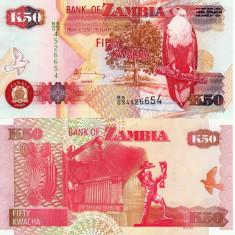 ZAMBIA 50 kwacha 2009 UNC!!!