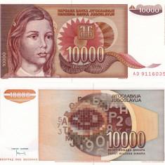 IUGOSLAVIA 10.000 dinara 1992 UNC!!! - bancnota europa