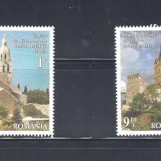 ROMANIA 2014 - EMISIUNE COMUNA ROMANIA - CROATIA : BISERICI FORTIFICATE - LP 2047 - Timbre Romania