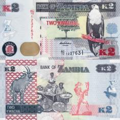 ZAMBIA 2 kwacha 2012 UNC!!!