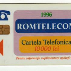CARTELA TELEFONICA ROMTELECOM BUCURESTI 1, ROM 15, 1996 - Cartela telefonica romaneasca