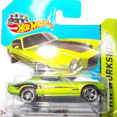 HOT WHEELS -REGULAR-SCARA 1/64-CHEVROLET CAMARO '70- ++2501 LICITATII !! - Macheta auto