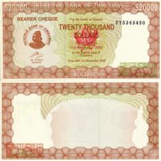 ZIMBABWE 20.000 dollars 2003 UNC!!! - bancnota africa