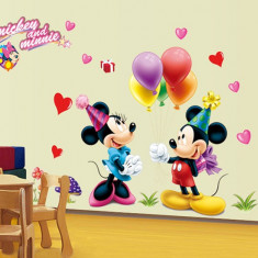 Autocolant Mickey and Minnie Mouse Sticker Perete 2016, DECOR CAMERA COPIILOR
