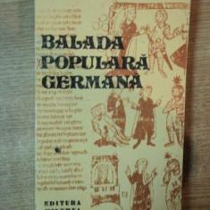 BALADA POPULARA GERMANA TRADUSA de IONEL MARINESCU, 1979 - Carte in germana