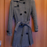 Palton Kenvelo masura M - Palton dama, Marime: 38, Culoare: Gri, Gri, Lana