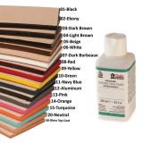 2810-01 Vopsea profesionala margine piele, negru, 250ml
