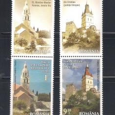 ROMANIA 2014 - EMISIUNE COMUNA ROMANIA - CROATIA : BISERICI FORTIFICATE - VINIETA 1 LP 2047 - Timbre Romania