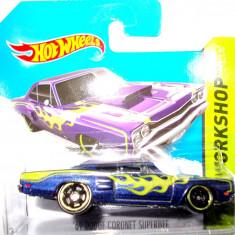 HOT WHEELS -REGULAR-SCARA 1/64-DODGE CORONET SUPER BEE '69- ++2501 LICITATII !! - Macheta auto