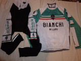 Echipament ciclism BIANCHI milano complet iarna toamna set NOU bluza pantaloni