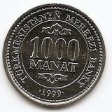Turkmenistan 1000 Manat 1999 President Saparmyrat Nyyazow KM-13 UNC !!!, Asia