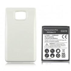 Acumulator alb extins 3500 mAh Samsung Galaxy S2 i9100 baterie extinsa + folie