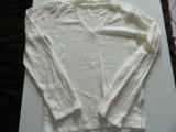 Bluza, bluzita pentru fetite, usor eleganta, alba simpla, pentru 10-12 ani, Alb