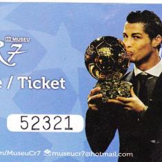 Bilet fotbal intrare muzeu Cristiano Ronaldo, CR7, Funchal, Portugal - Bilet meci