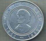 ATAM2001 MEDALIE 667 - MIHAI EMINESCU -1850-1889 -CENTENAR - BRAILA - ROMANIA -1889-1989- DUNAREA - LUCEAFARUL - plus cutie - starea care se vede