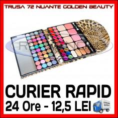 TRUSA FARDURI 72 NUANTE GOLDEN BEAUTY - RUJURI, BLUSH, FARD DE PLEOAPE, MACHIAJ - Trusa machiaj