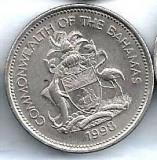 Bahama 25 cent 1998, America de Nord