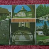 carte postala - Putna --- Biserica lui Dragos Voda / Epitrahil cu Stefan cel Mare si Alexandrel / Manastirea / Mormantul / Chilia Daniil Sihastrul !!!