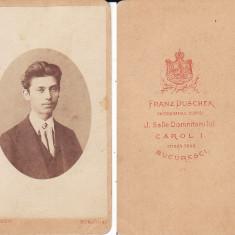 FRANZ DUSCHEK, PHOTOGRAFUL DOMNITORULUI CAROL I, foto cabinet, Bucuresti, cca 1870 - Fotografie, Portrete, Romania pana la 1900