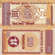 MONGOLIA 20 mongo 1993 UNC!!! - bancnota asia