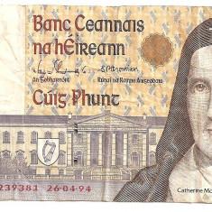 IRLANDA 5 LIRE POUNDS 1994 F