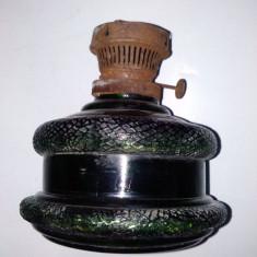 Lot 2 rezervoare din sticla pentru lampa pe petrol, Lampi
