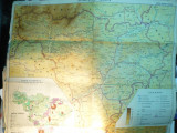 *Harta Fizica si Economica a Jud. Alba si Muntii Apuseni ,69x68 cm Ed. Academia RSR