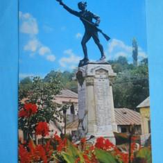 HOPCT14355 ROMANIA SLATINA -STATUIA LUI ECATERINA TEODOROIU - [ CIRCULATA] - Carte Postala Muntenia dupa 1918