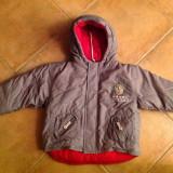 Jacheta geaca iarna Kiabi baieti, 3 ani, 94 cm, Culoare: Gri