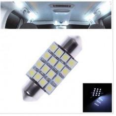 Led Auto C5W alb rece 36 mm 16 SMD 3528 alba alb xenon plafoniera numar, Universal