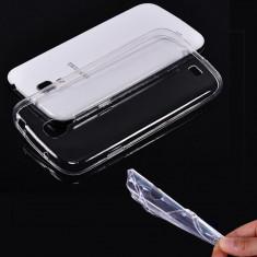 Husa Samsung Galaxy S4 Mini I9190 TPU Ultra Thin 0.3mm Transparenta - Husa Telefon Samsung, Negru, Gel TPU, Fara snur, Carcasa