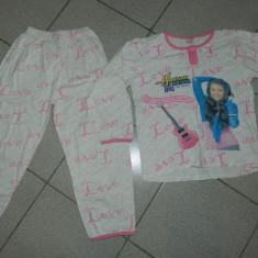 Pijama de fete, cu hanna Montana, marimea 134-140 cm, pentru 8-10 ani, Culoare: Din imagine