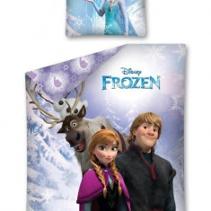 Lenjerie pat copii Disney Frozen, 140X200, 2 piese, Alte dimensiuni, Multicolor