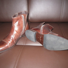 Gheata gen pantof barbati - Ghete barbati, Marime: 43, Culoare: Maro, Piele naturala, Maro