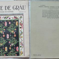 Boabe de grau ; Revista de cultura, Februarie, 1933, an 4, Chisinau, Manastirea Zamfira - Ziar