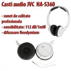 Casti audio JVC HA-S360 profesionale compatibile cu orice iPod, iPhone, iPad, etc, Casti On Ear, Cu fir, Mufa 3, 5mm