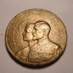 Medalie Regele Ferdinand si Regina Maria Incoronarea de la Alba Iulia 1922 - Medalii Romania