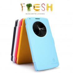 Husa LG G3 D855 S-VIEW Fresh Activa by Nillkin Black - Husa Telefon LG, Negru, Cu clapeta, Toc