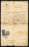 Mitropolia Basarabiei - Arhiepiscopia Chisinaului document fiscal cu antet si stampila din 1920, timbre fiscale
