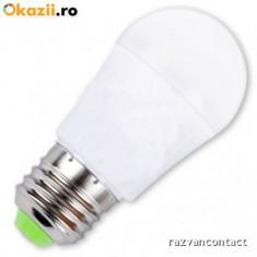 Bec cu LED 3W soclu E27, cod:10100095