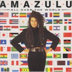 Amazulu - All over the world (1986, Island Records) Disc vinil single 7
