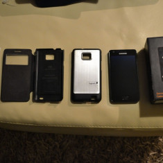 Vand telefon samsung galaxy s2 - Telefon mobil Samsung Galaxy S2, Negru, 16GB, Orange