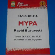 Program meci fotbal MYPA (Finlanda) - RAPID BUCURESTI 26.07.2012