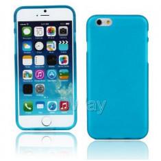 "Husa silicon albastru subtire Iphone 6 4,7"" + folie protectie ecran + expediere gratuita Posta"