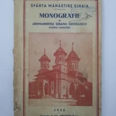 MONOGRAFIE SFINTA MANASTIRE SINAIA arh.Serafim Georgescu 1936 - Carte veche