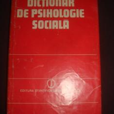 ANA BOGDAN TUCIOV - DICTIONAR DE PSIHOLOGIE SOCIALA - Carte Psihologie